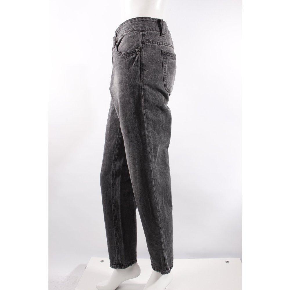 drykorn boyfriendjeans schwarz grau damen gr de 40 jeans. Black Bedroom Furniture Sets. Home Design Ideas