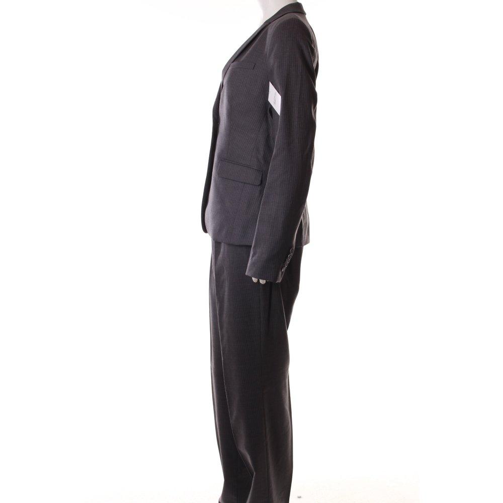 drykorn kost m grau wei nadelstreifen business look damen gr de 38 anzug ebay. Black Bedroom Furniture Sets. Home Design Ideas