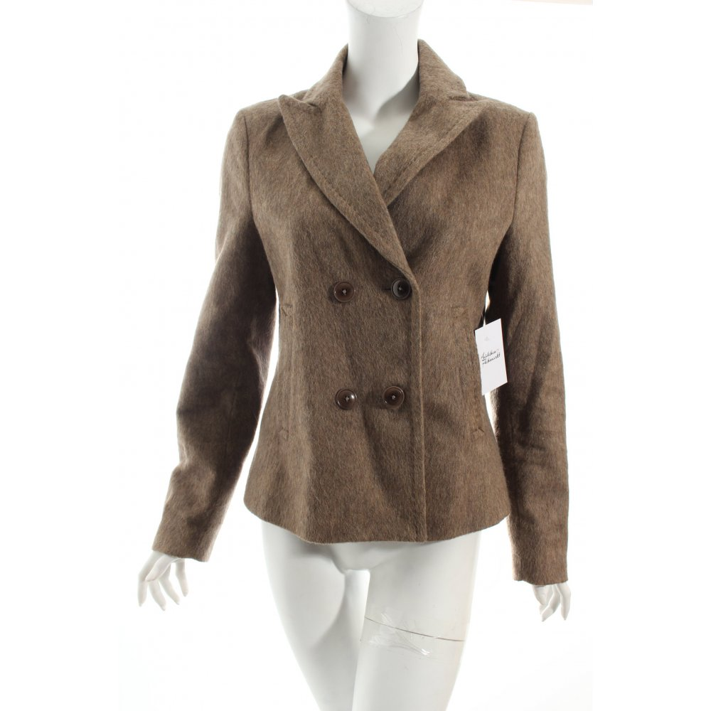 drykorn woll blazer beige klassischer stil damen gr de 38. Black Bedroom Furniture Sets. Home Design Ideas
