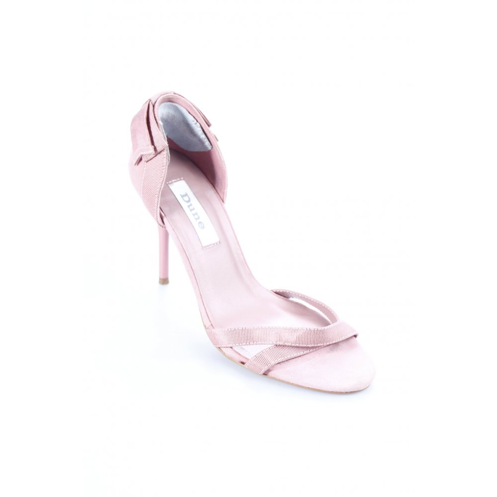 dune high heel sandaletten altrosa business look damen gr. Black Bedroom Furniture Sets. Home Design Ideas