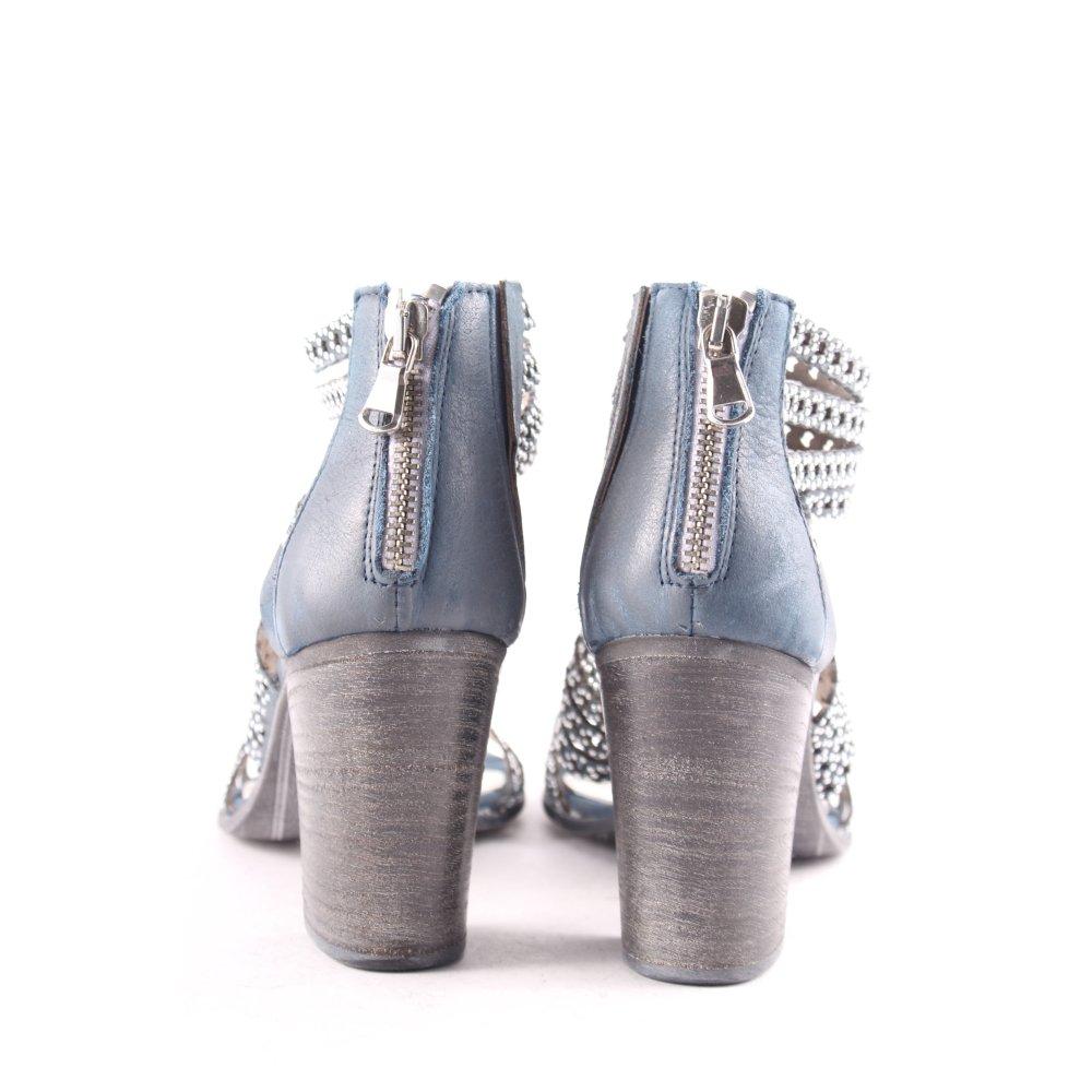 easy way zehen sandaletten graublau silberfarben casual. Black Bedroom Furniture Sets. Home Design Ideas