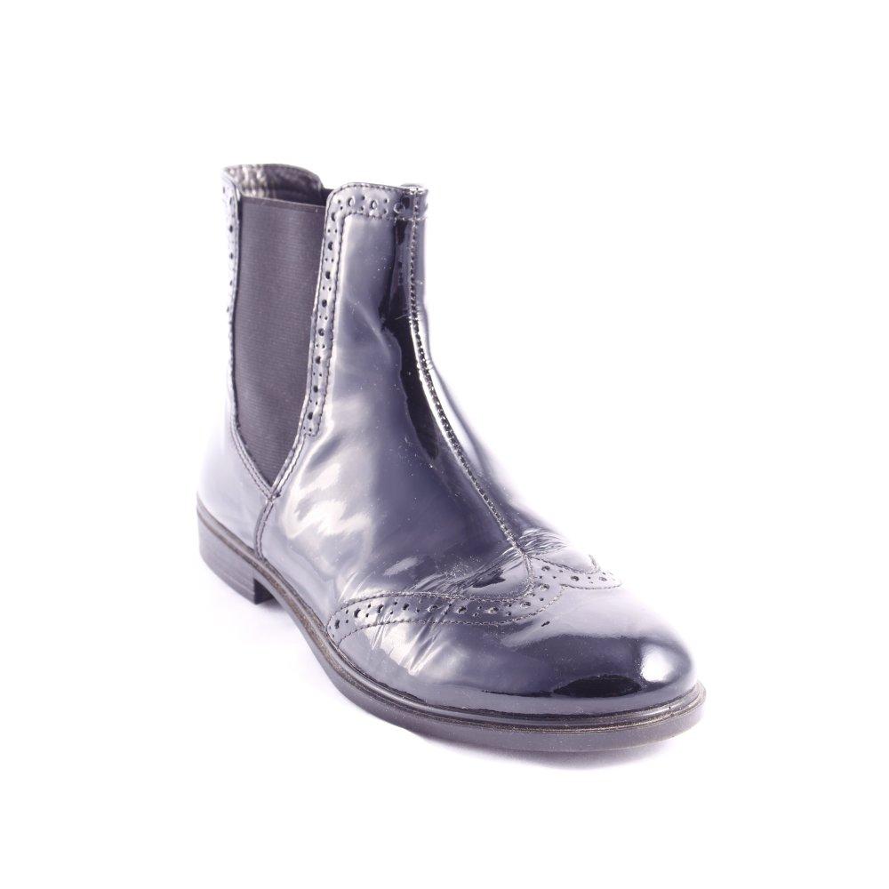 ecco chelsea boots schwarz lack optik damen gr de 38. Black Bedroom Furniture Sets. Home Design Ideas