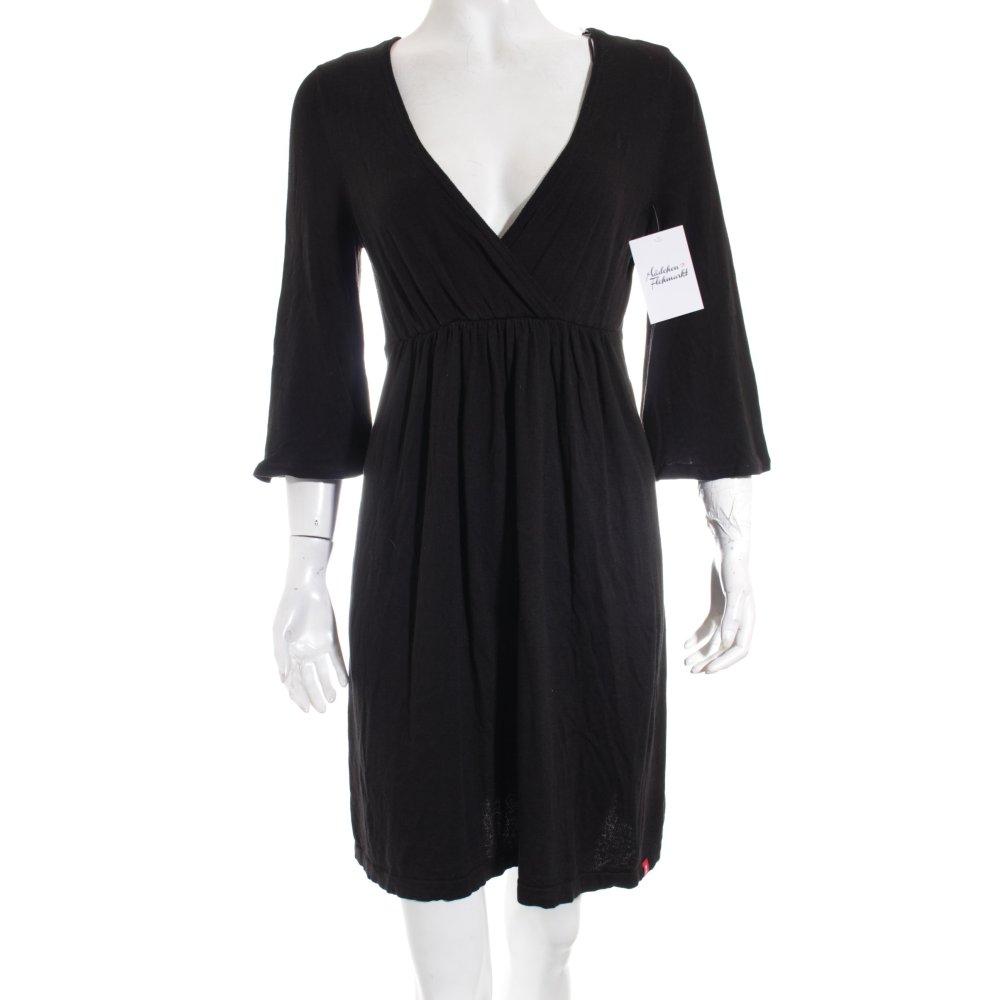 Edc esprit strickkleid schwarz klassischer stil damen gr for Klassischer stil