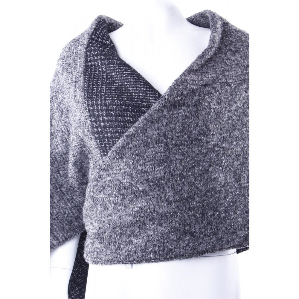 ein l ffel voll zucker poncho schwarz grau gr e 36 ebay. Black Bedroom Furniture Sets. Home Design Ideas