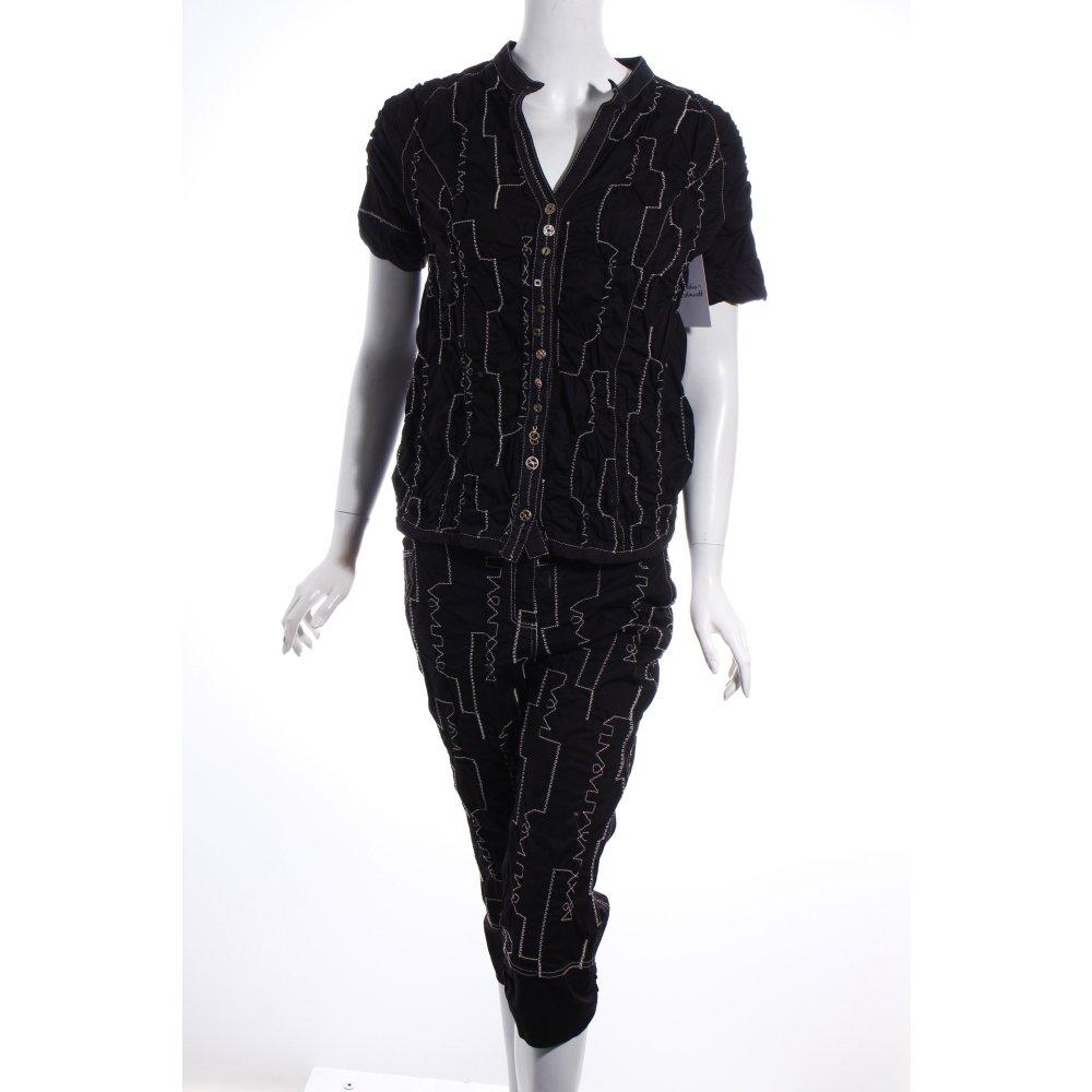 elisa cavaletti hosenanzug schwarz wei casual look damen gr de 36 anzug suit ebay. Black Bedroom Furniture Sets. Home Design Ideas