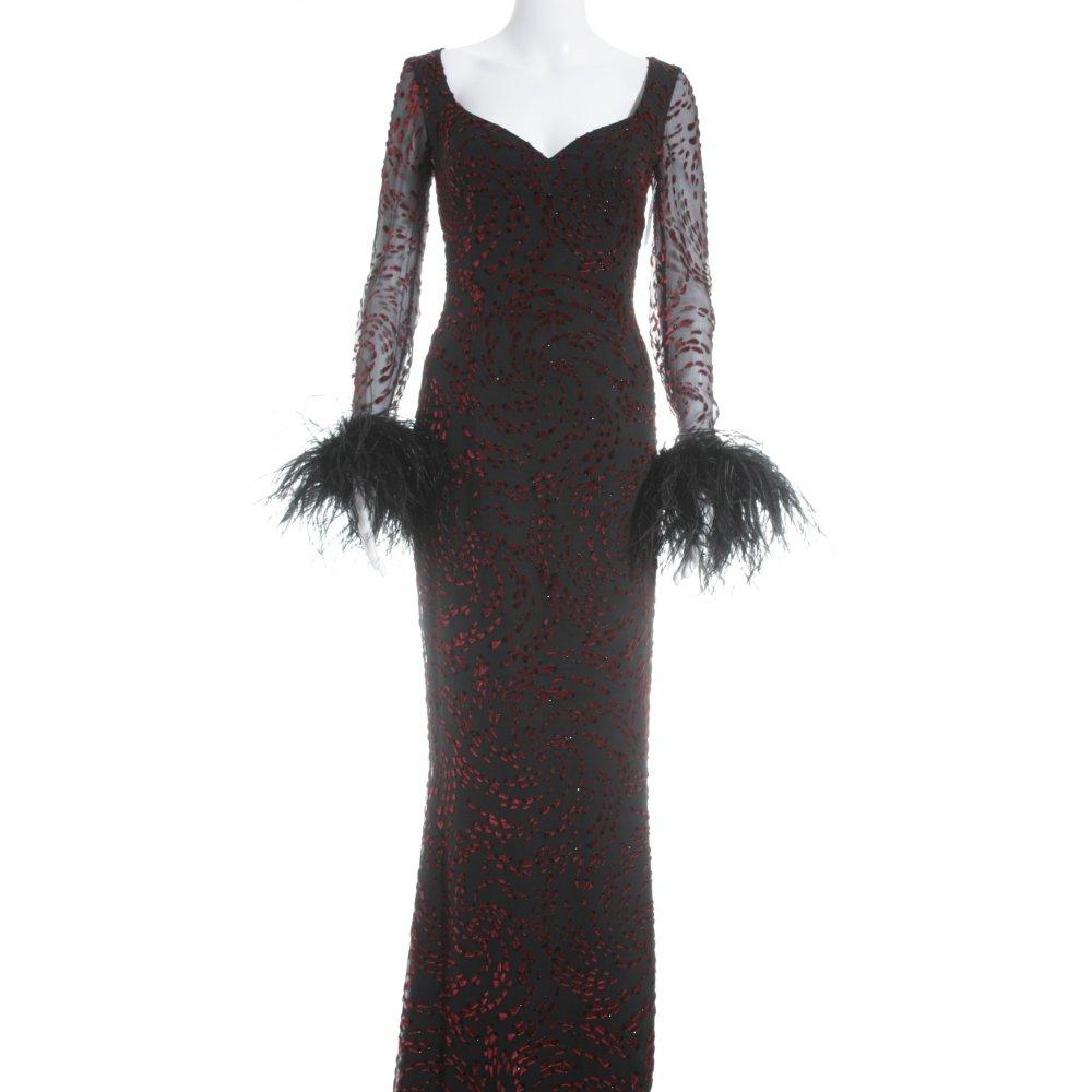 Abiti Eleganti Stile Anni 30.Escada Couture Abito Da Sera Nero Rosso Stile Anni 30 Donna