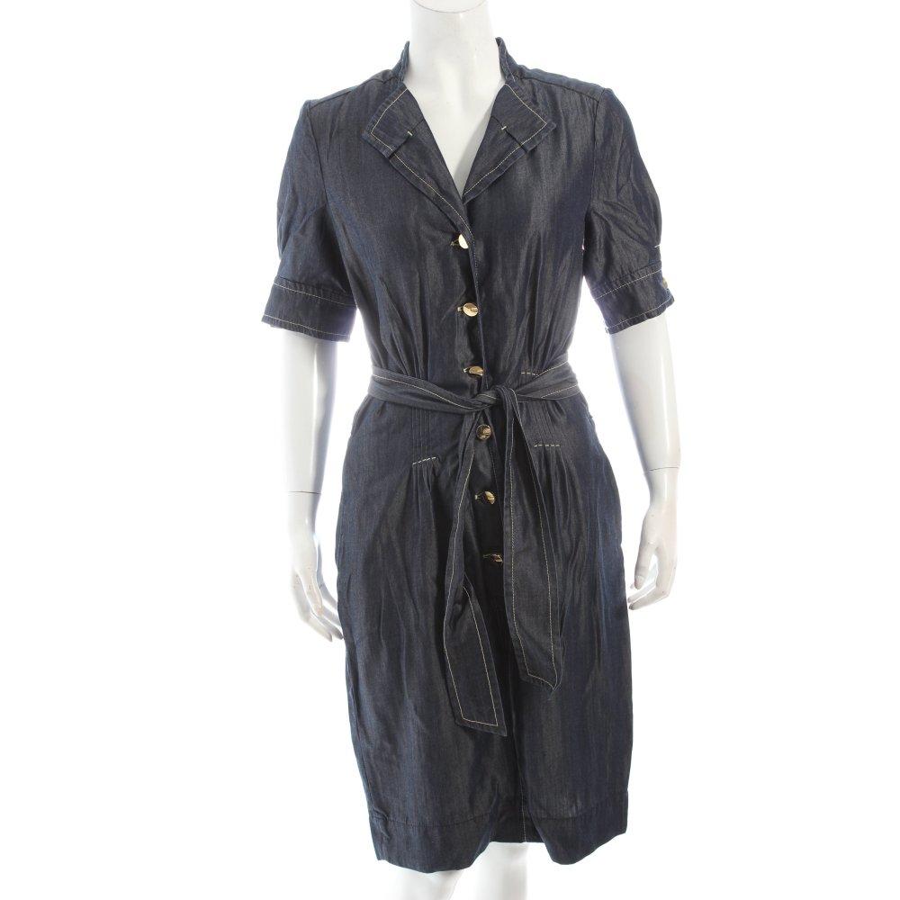 escada jeanskleid dunkelblau casual look damen gr de 36 kleid dress denim dress ebay. Black Bedroom Furniture Sets. Home Design Ideas
