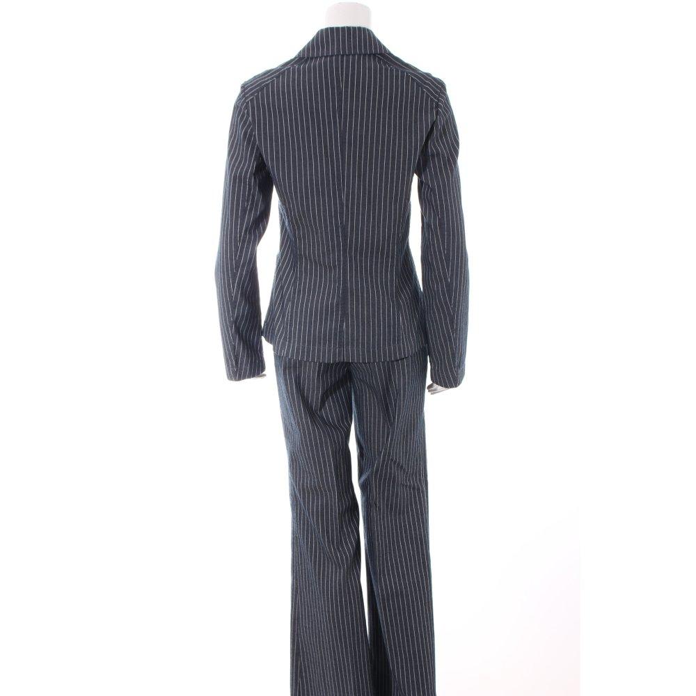 esprit hosenanzug dunkelblau wei nadelstreifen retro look damen gr de 36 suit ebay. Black Bedroom Furniture Sets. Home Design Ideas
