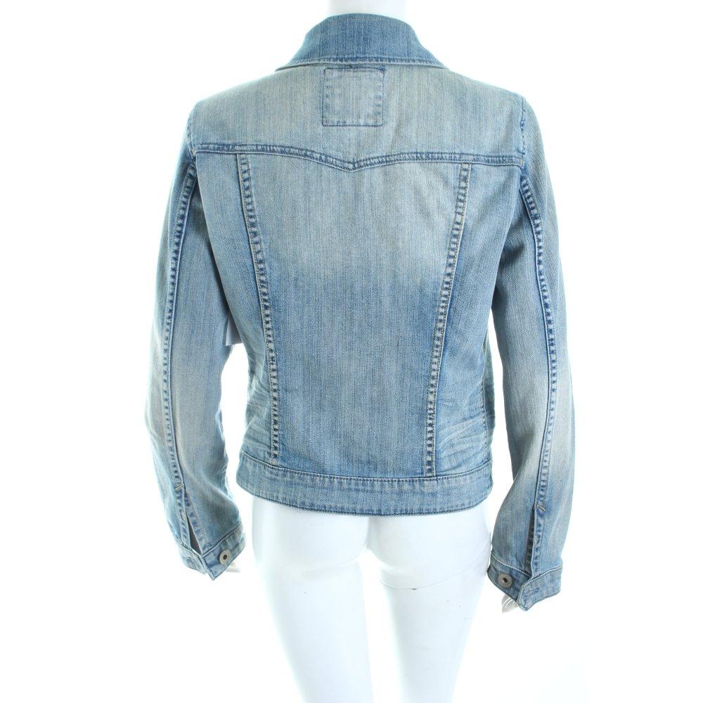 esprit jeansjacke hellblau wollwei casual look damen gr de 40 jacke jacket ebay. Black Bedroom Furniture Sets. Home Design Ideas