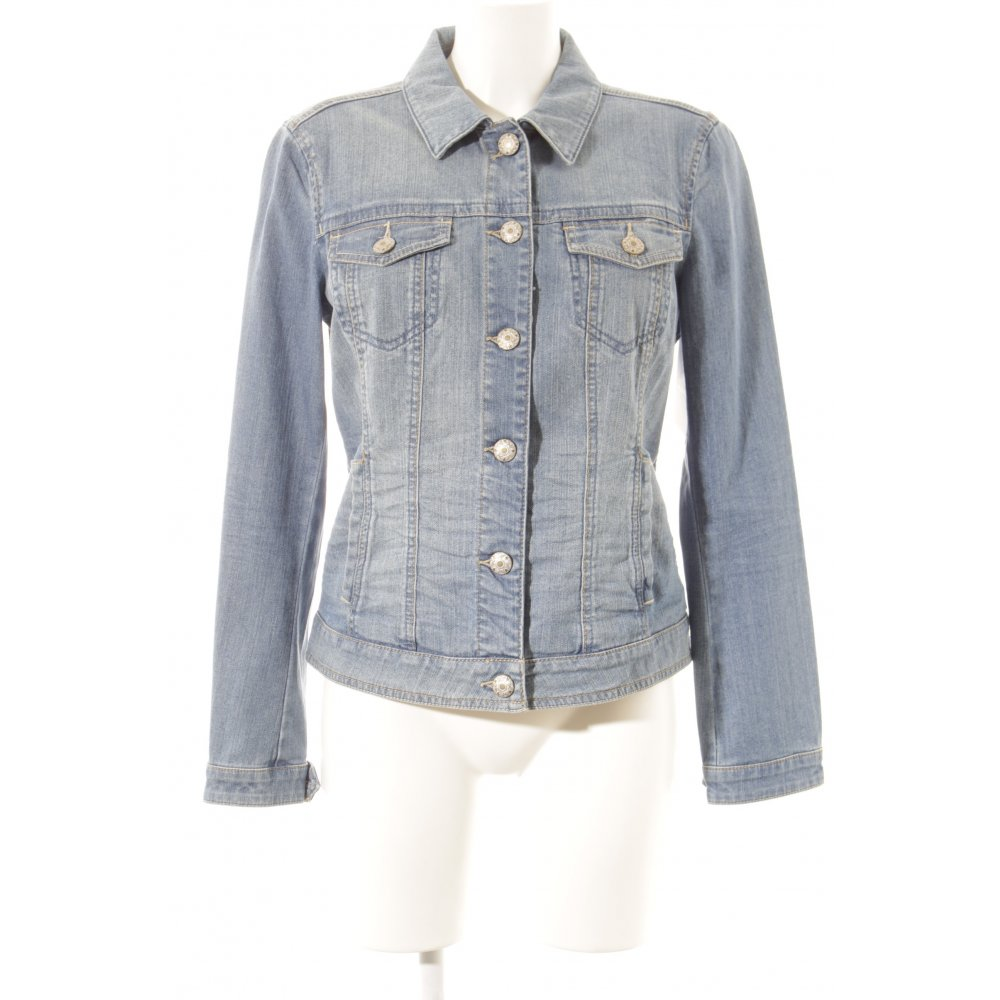 esprit jeansjacke hellblau wollwei casual look damen gr de 42 jacke jacket ebay. Black Bedroom Furniture Sets. Home Design Ideas