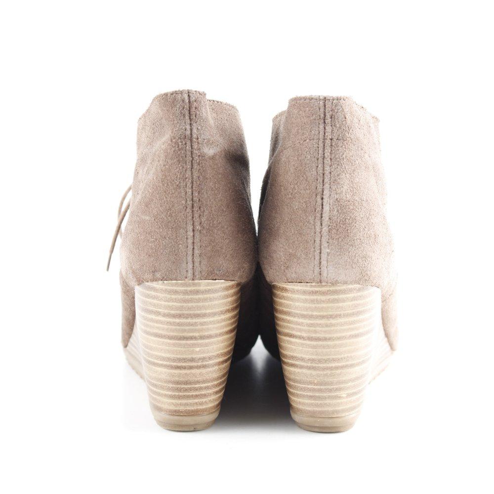 Detalles de ESPRIT Botas de cuña marrón look casual Mujeres Talla EU 40 Botines