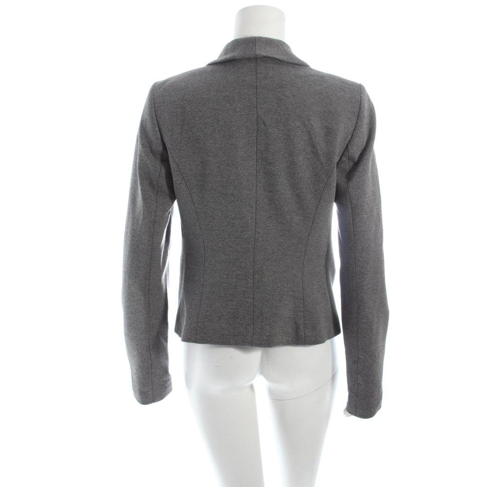 esprit kurz blazer grau meliert business look damen gr de 38 short blazer ebay. Black Bedroom Furniture Sets. Home Design Ideas