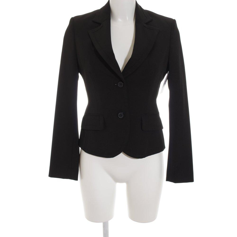 esprit kurz blazer schwarz business look damen gr de 32 short blazer ebay. Black Bedroom Furniture Sets. Home Design Ideas
