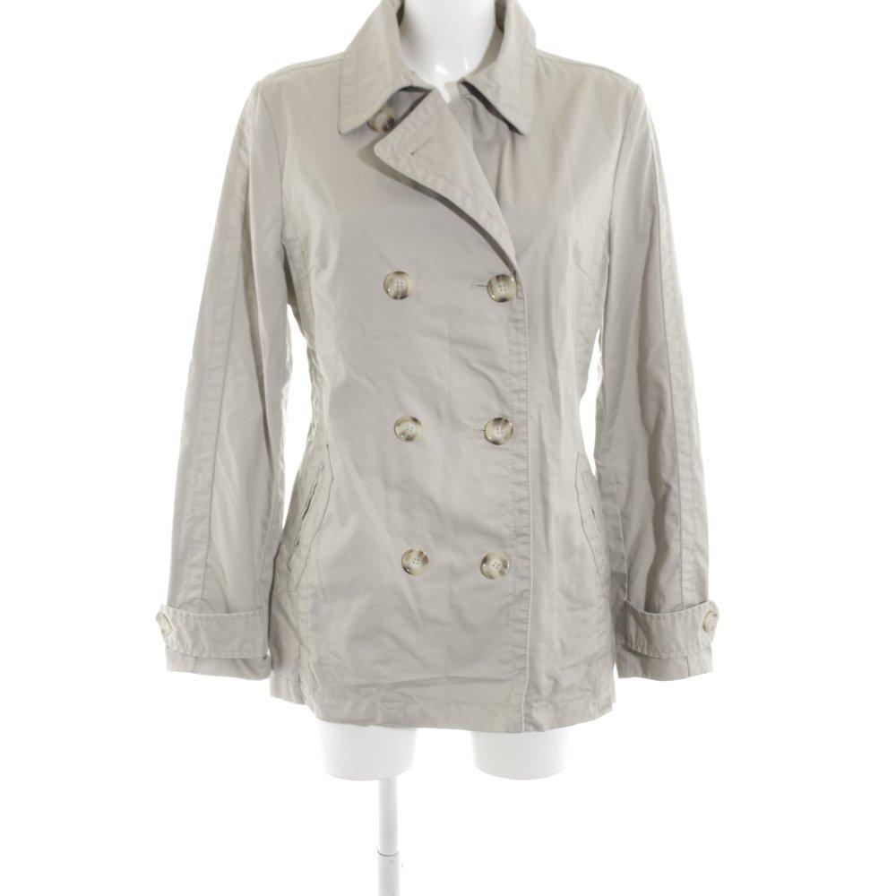Dettagli su ESPRIT Cappotto corto bianco sporco grigio chiaro stile casual Donna Cotone