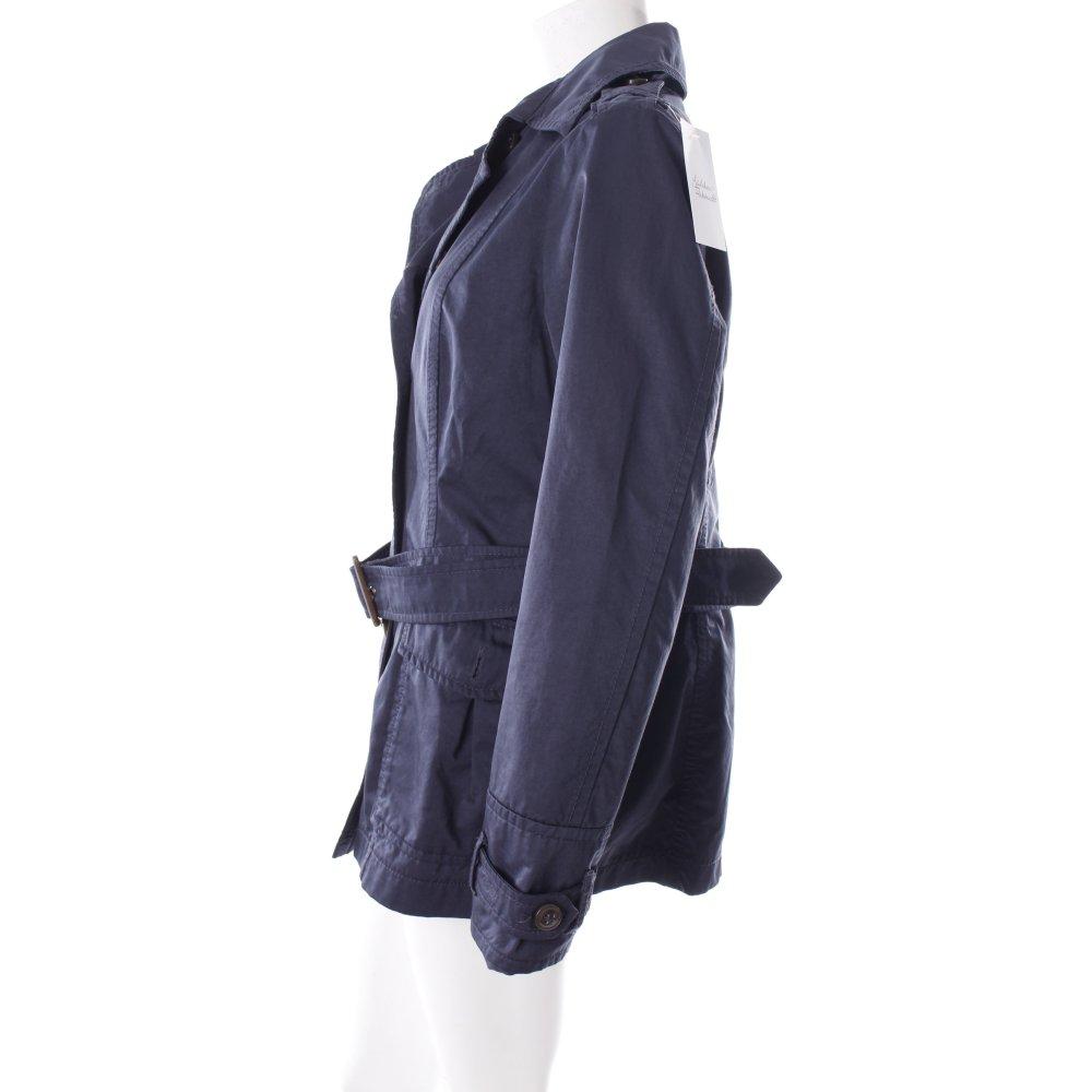 esprit lange jacke dunkelblau damen gr de 42 jacket long. Black Bedroom Furniture Sets. Home Design Ideas