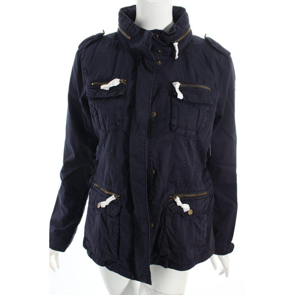 esprit parka dunkelblau casual look damen gr de 40 jacke jacket baumwolle ebay. Black Bedroom Furniture Sets. Home Design Ideas
