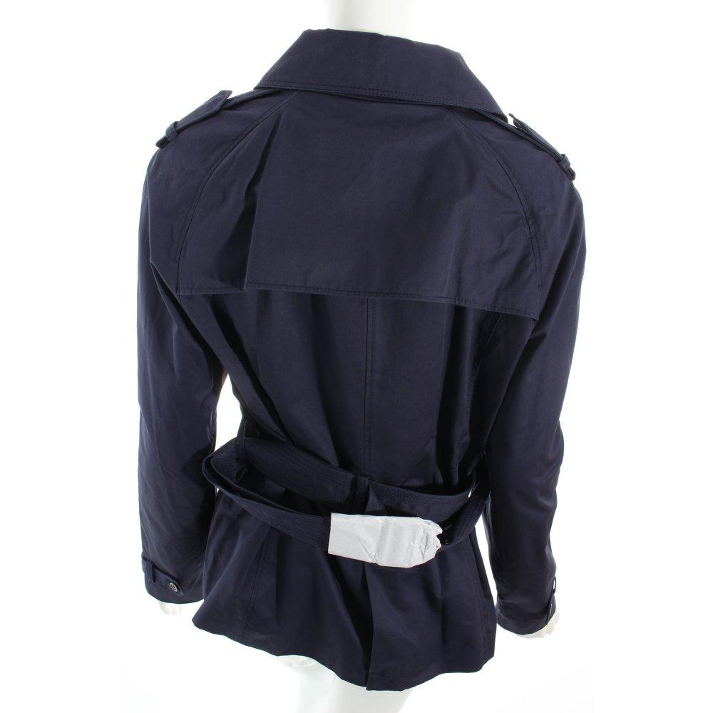 esprit trenchcoat dunkelblau casual look damen gr de 40 mantel coat baumwolle ebay. Black Bedroom Furniture Sets. Home Design Ideas