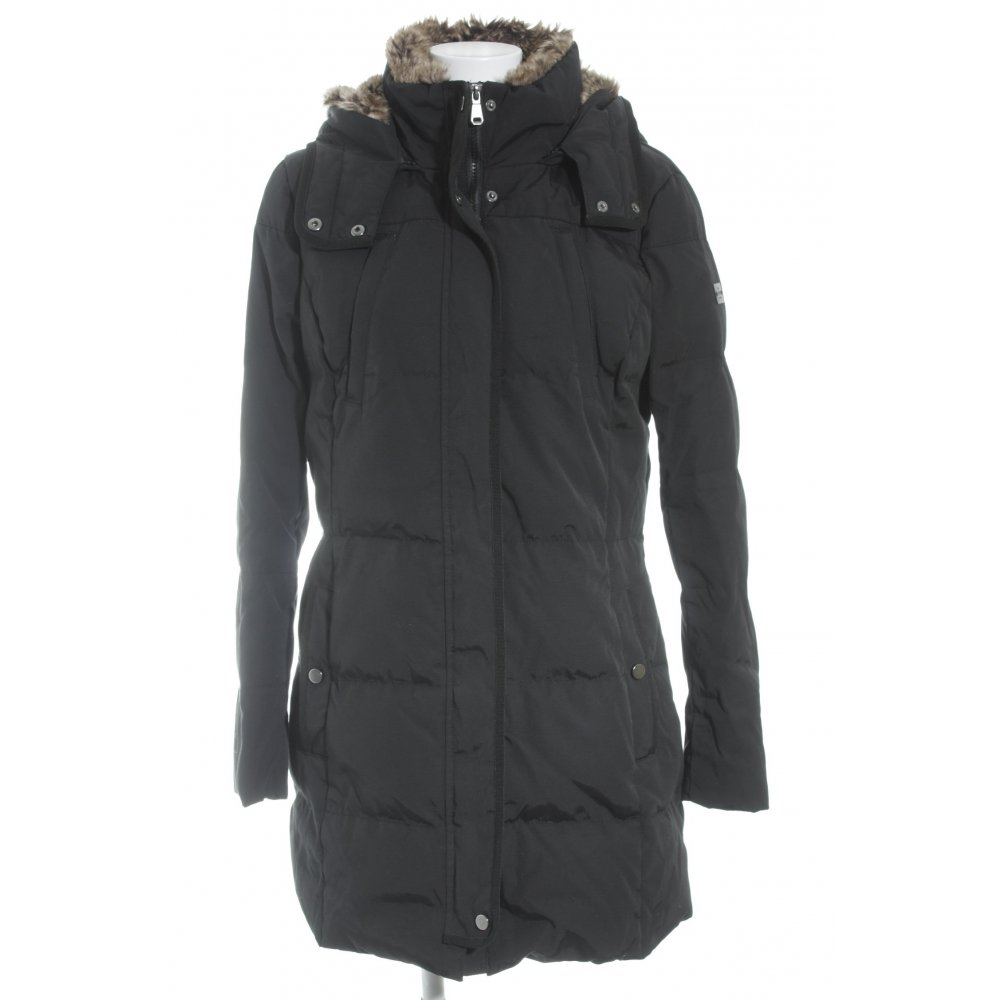 esprit winterjacke schwarz beige schlichter stil damen gr de 40 jacke jacket ebay. Black Bedroom Furniture Sets. Home Design Ideas