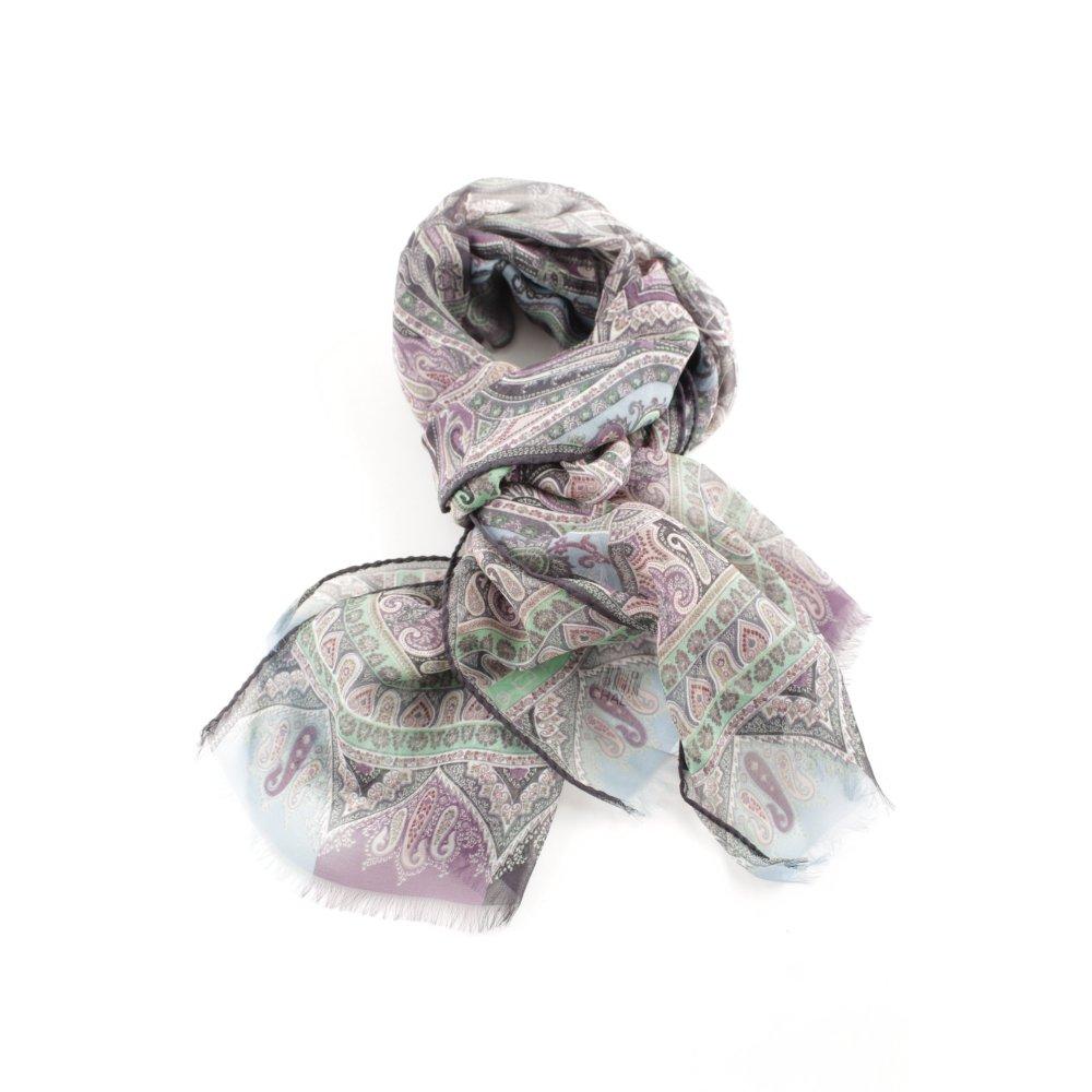 huge selection of fe7fe a745a Dettagli su ETRO Sciarpa di seta modello misto stile casual Donna grigio  chiaro