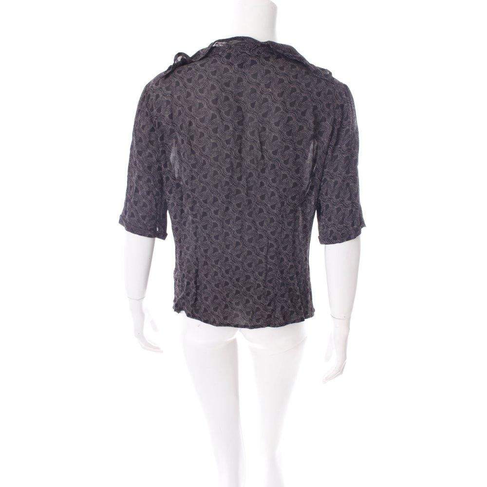 evelin brandt berlin kurzarm bluse schwarz wei abstraktes. Black Bedroom Furniture Sets. Home Design Ideas