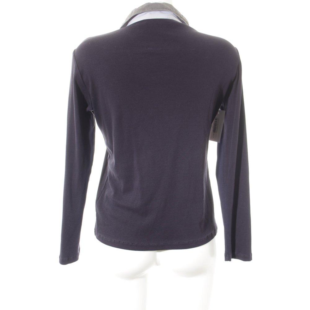 FABIANA FILIPPI Langarmhemd Dunkelblau-grau Casual-Look