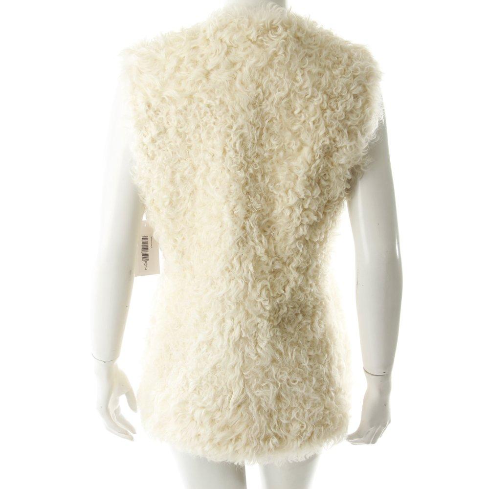 fellweste wei damen gr de 30 wei weste vest fur vest. Black Bedroom Furniture Sets. Home Design Ideas