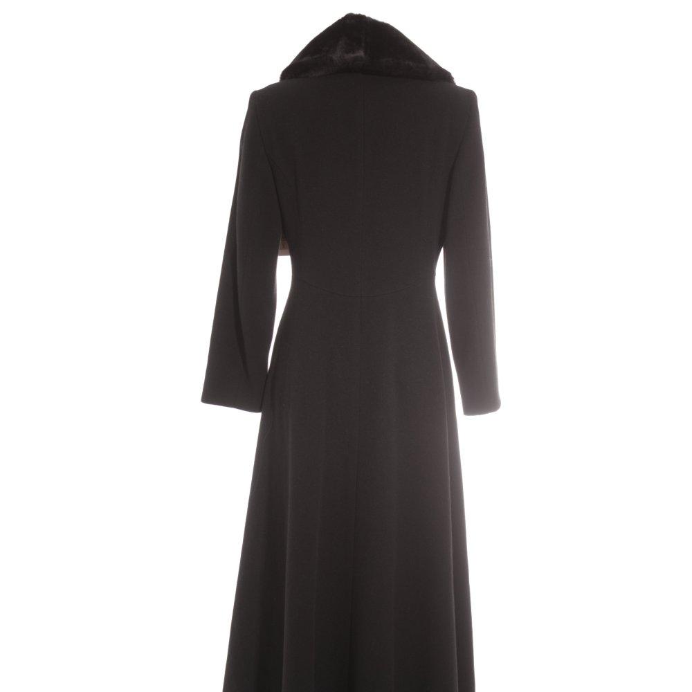 feminella bodenlanger mantel schwarz business look damen gr de 38 coat ebay. Black Bedroom Furniture Sets. Home Design Ideas