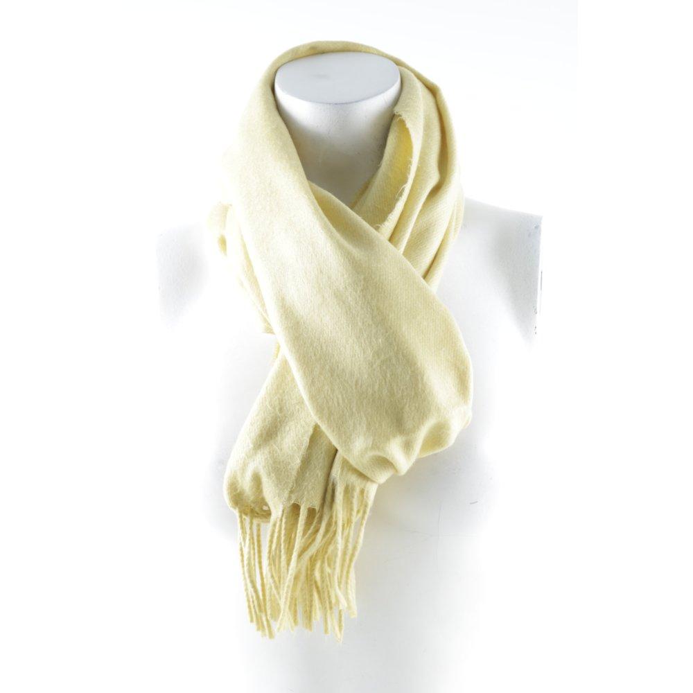 Fransenschal gelb klassischer stil damen schal scarf for Klassischer stil
