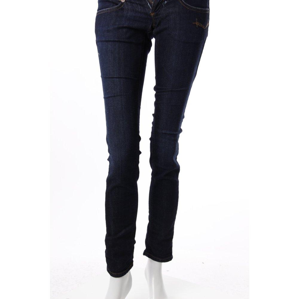 freeman t porter skinny jeans dunkblau damen gr de 32 dunkelblau baumwolle ebay. Black Bedroom Furniture Sets. Home Design Ideas