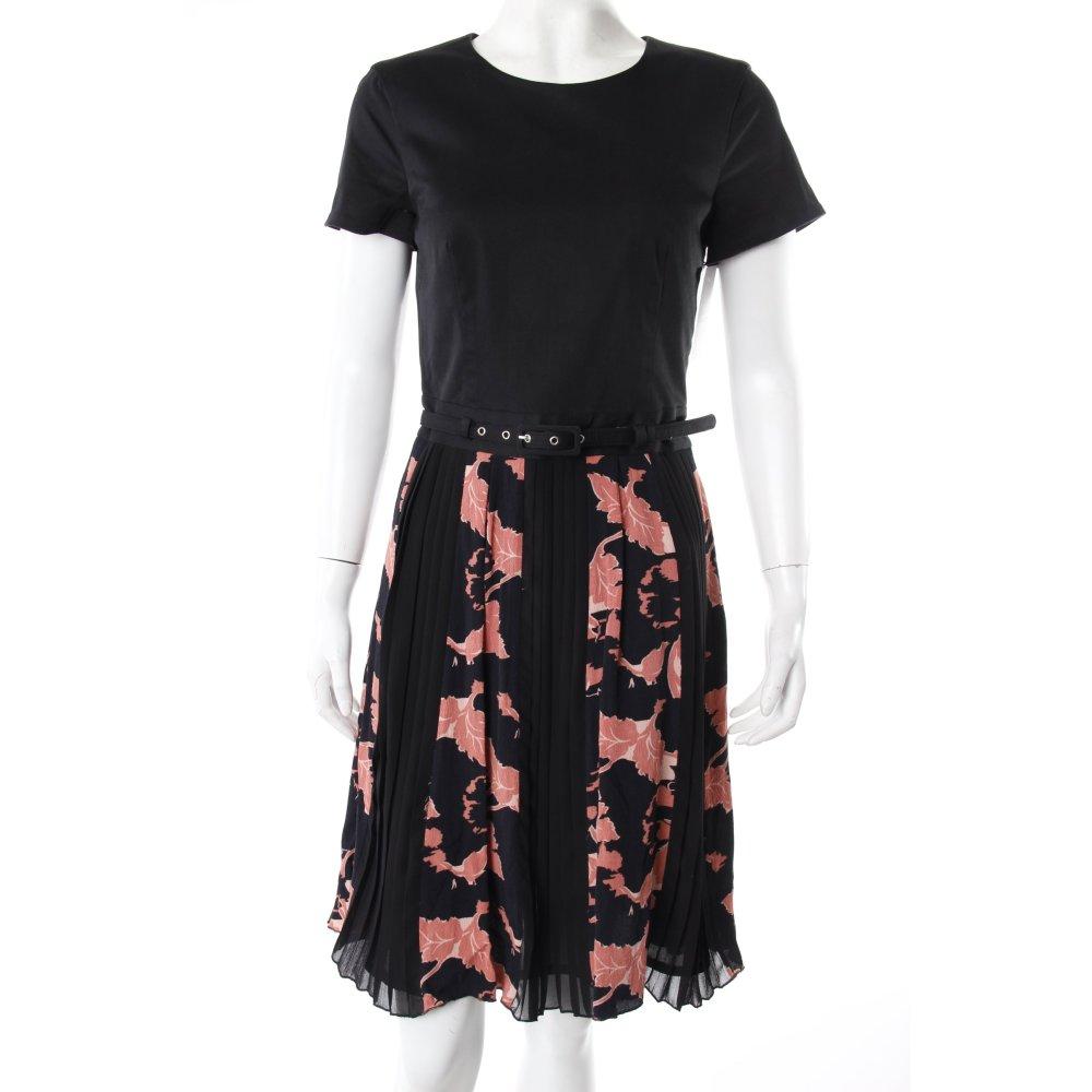 french connection kleid blumenmuster schwarz rosarot damen gr de 38 dress. Black Bedroom Furniture Sets. Home Design Ideas
