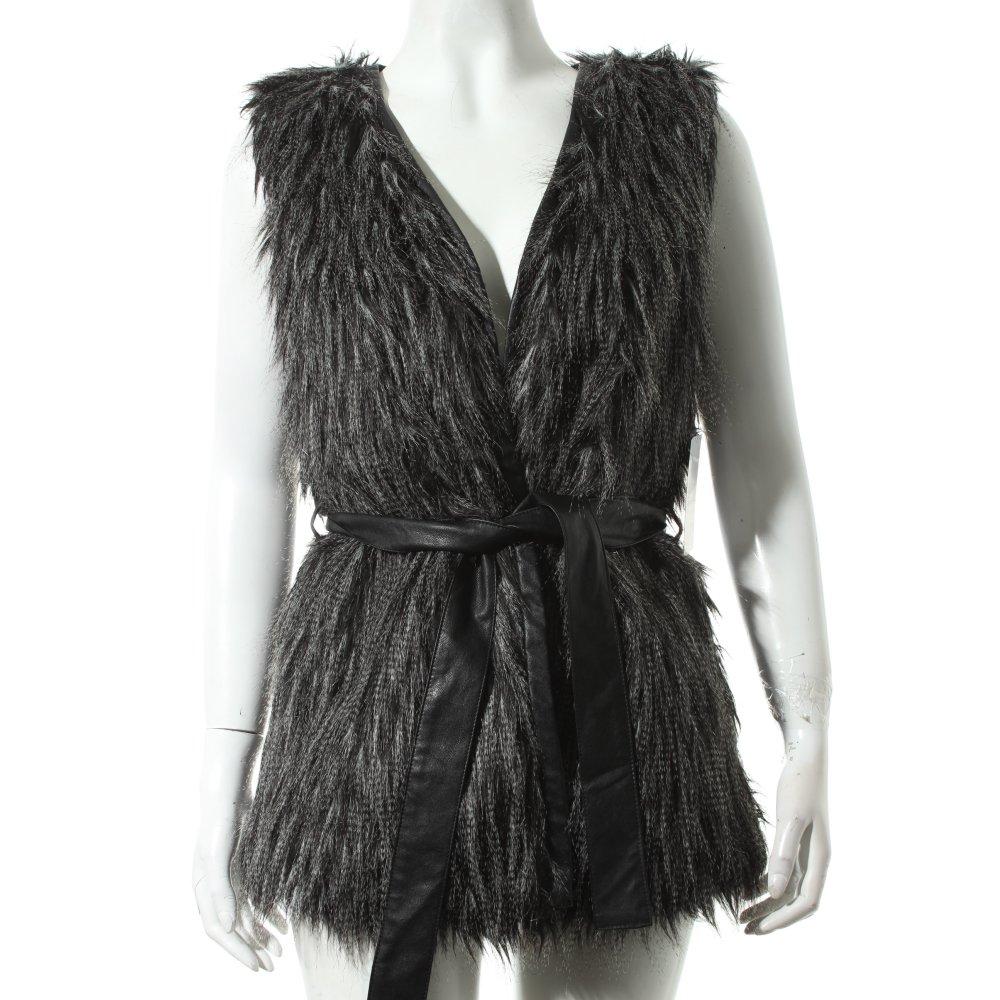 Friendtex gilet en fausse fourrure gris noir style extravagant dames t 38 ebay - Gilet fausse fourrure noir ...