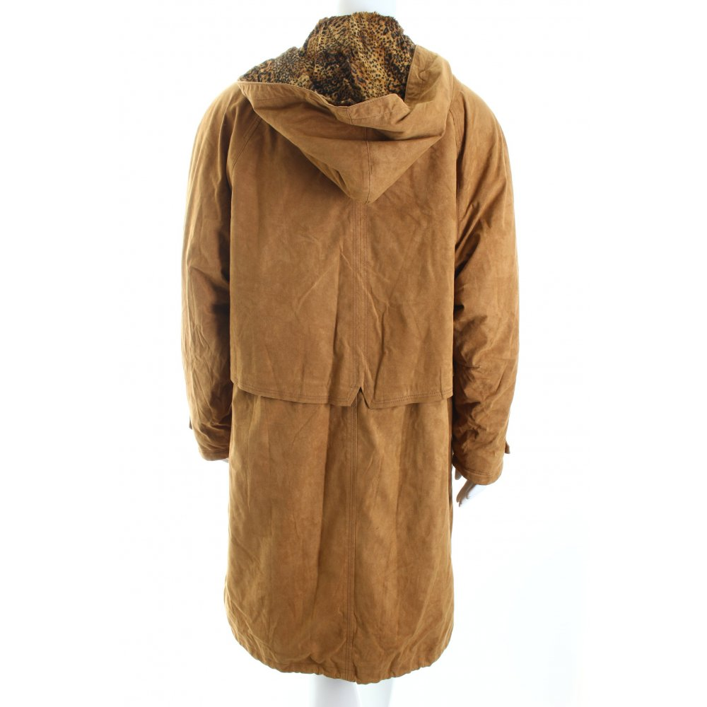 fuchs schmitt mantel camel schwarz leomuster vintage look damen gr de 42 coat ebay. Black Bedroom Furniture Sets. Home Design Ideas