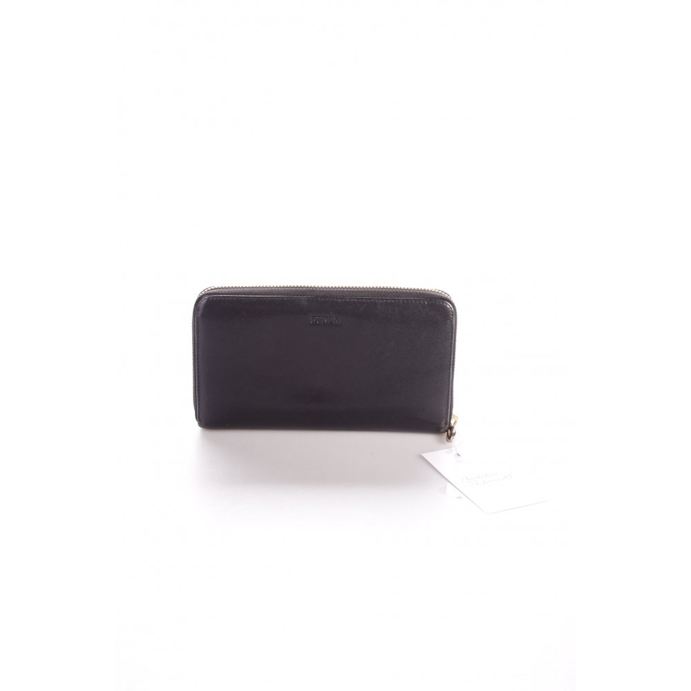 furla geldb rse schwarz damen tasche bag leder wallet ebay. Black Bedroom Furniture Sets. Home Design Ideas