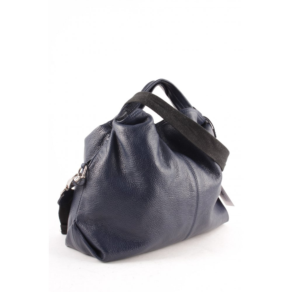 furla handtasche dunkelblau schlichter stil damen tasche bag leder handbag ebay. Black Bedroom Furniture Sets. Home Design Ideas