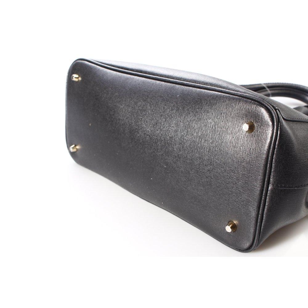 Furla handtasche schwarz klassischer stil damen tasche bag for Klassischer stil