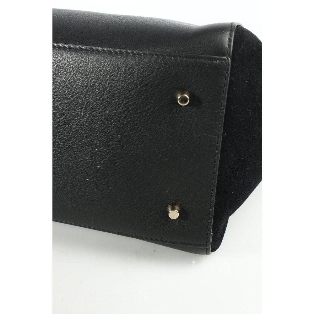 furla henkeltasche schwarz business look damen tasche bag leder carry bag ebay. Black Bedroom Furniture Sets. Home Design Ideas
