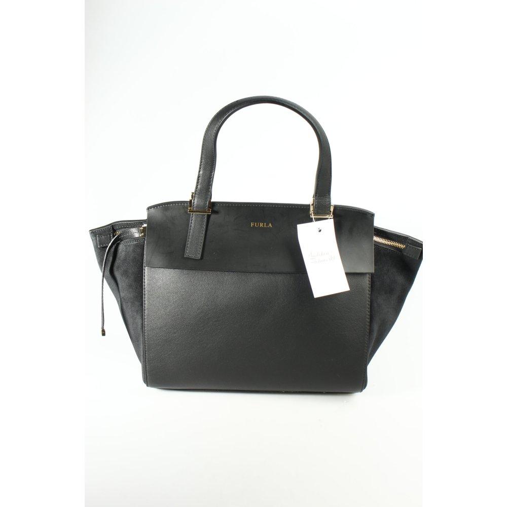 Furla henkeltasche schwarz business look damen tasche bag for Tasche furla schwarz