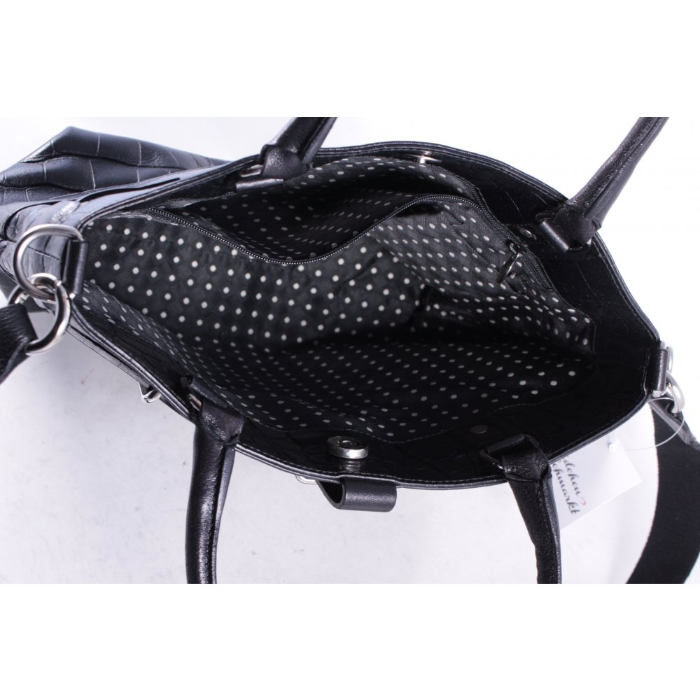 furla henkeltasche schwarz lack optik damen tasche bag. Black Bedroom Furniture Sets. Home Design Ideas