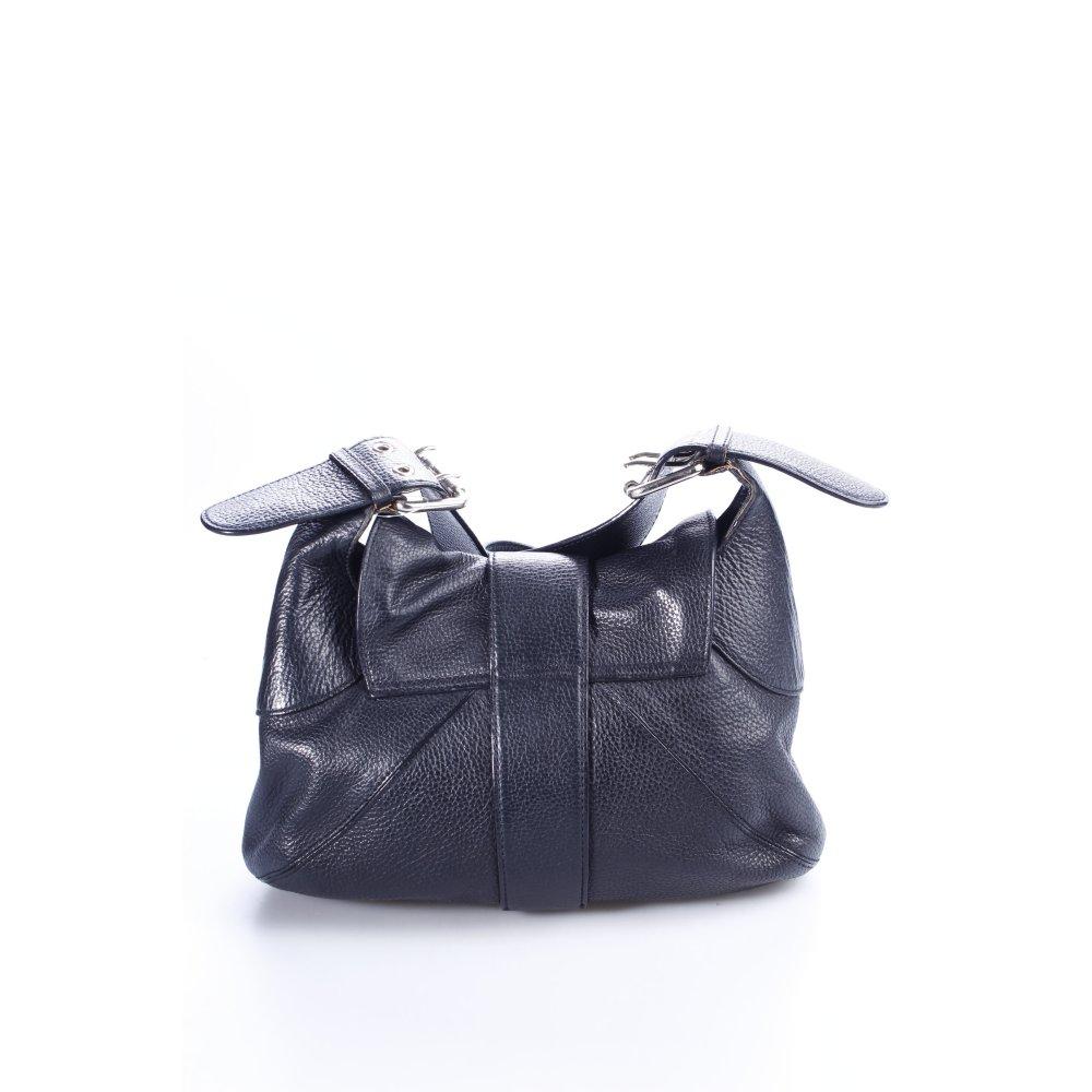 furla schultertasche schwarz damen tasche bag leder. Black Bedroom Furniture Sets. Home Design Ideas