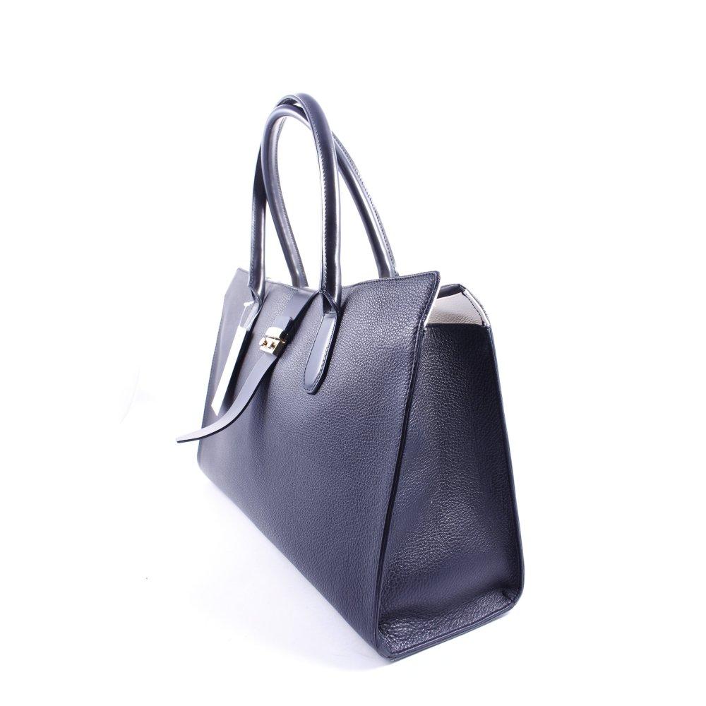 Furla tote schwarz klassischer stil damen tasche bag ebay - Furla tasche schwarz ...