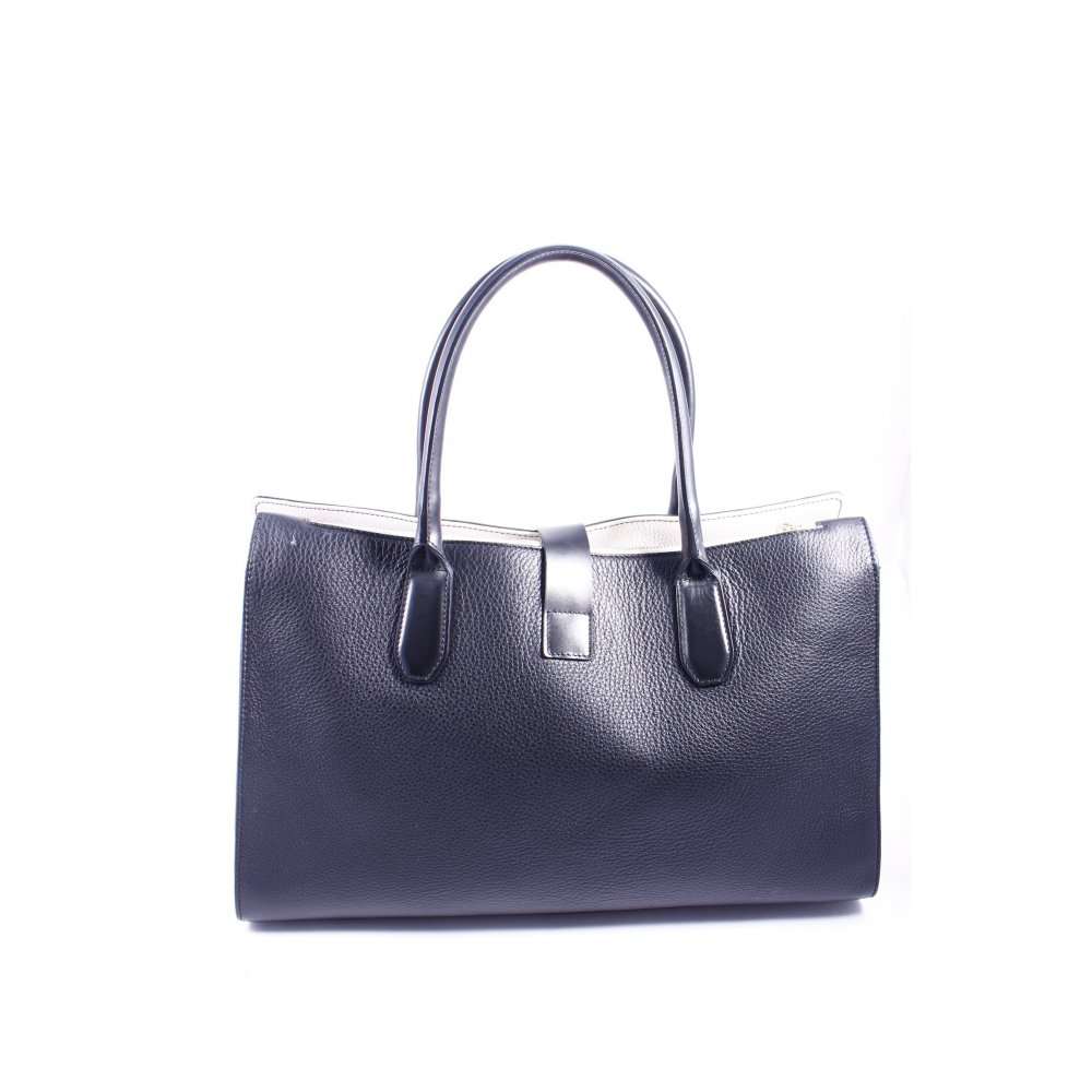 furla tote schwarz klassischer stil damen tasche bag ebay. Black Bedroom Furniture Sets. Home Design Ideas