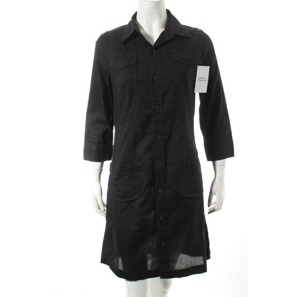 g star hemdblusenkleid schwarz casual look damen gr de 38 kleid dress baumwolle ebay. Black Bedroom Furniture Sets. Home Design Ideas