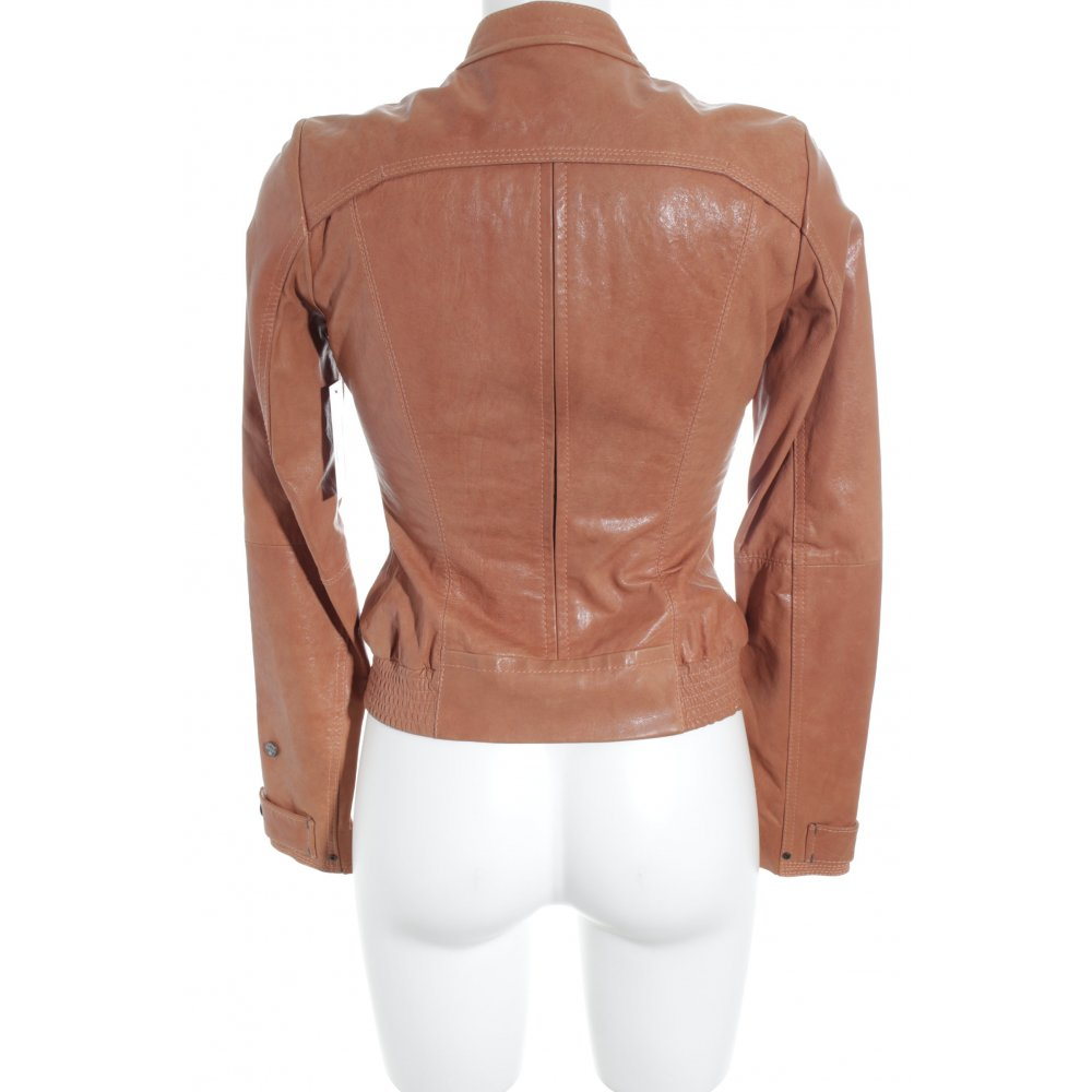 g star leather jacket apricot biker look women s size uk 6. Black Bedroom Furniture Sets. Home Design Ideas