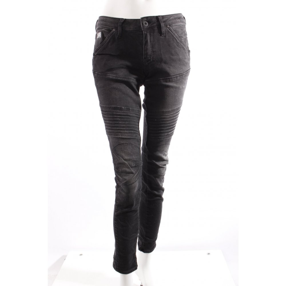 g star raw biker jeans schwarz damen gr de 34 skinny. Black Bedroom Furniture Sets. Home Design Ideas