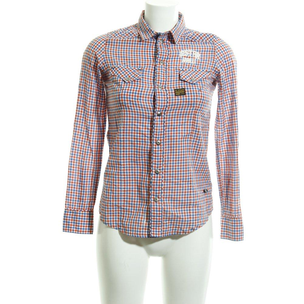 Détails sur G STAR RAW Chemise à manches longues motif à carreaux style décontracté Dames