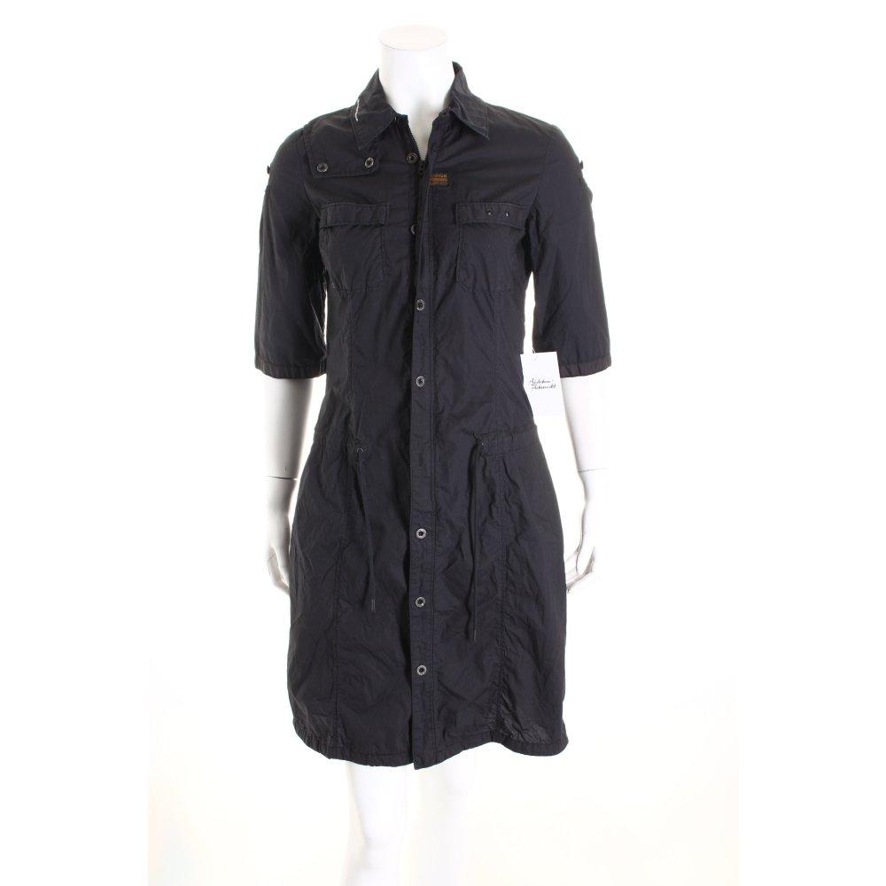 g star raw mantelkleid dunkelblau sportlicher stil damen gr de 36 kleid dress. Black Bedroom Furniture Sets. Home Design Ideas