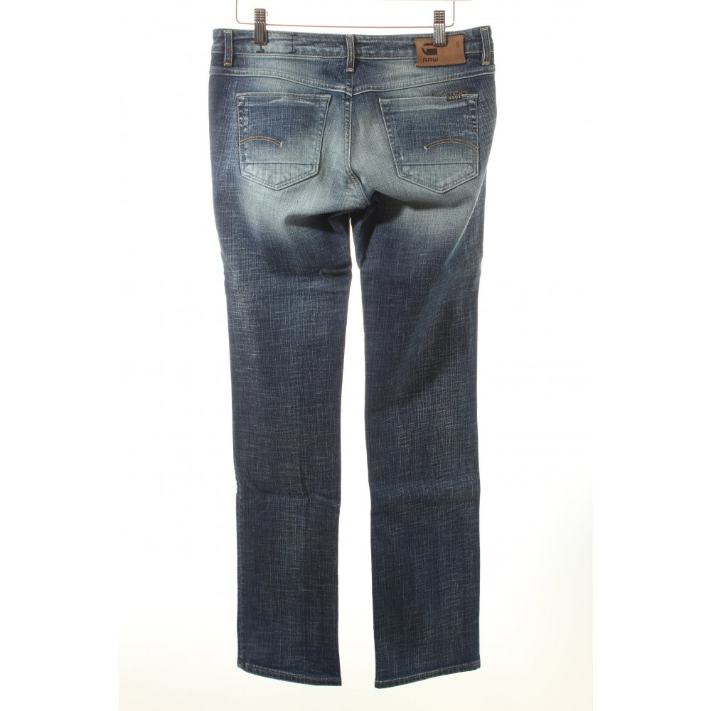 g star raw straight leg jeans blue pale blue casual look. Black Bedroom Furniture Sets. Home Design Ideas