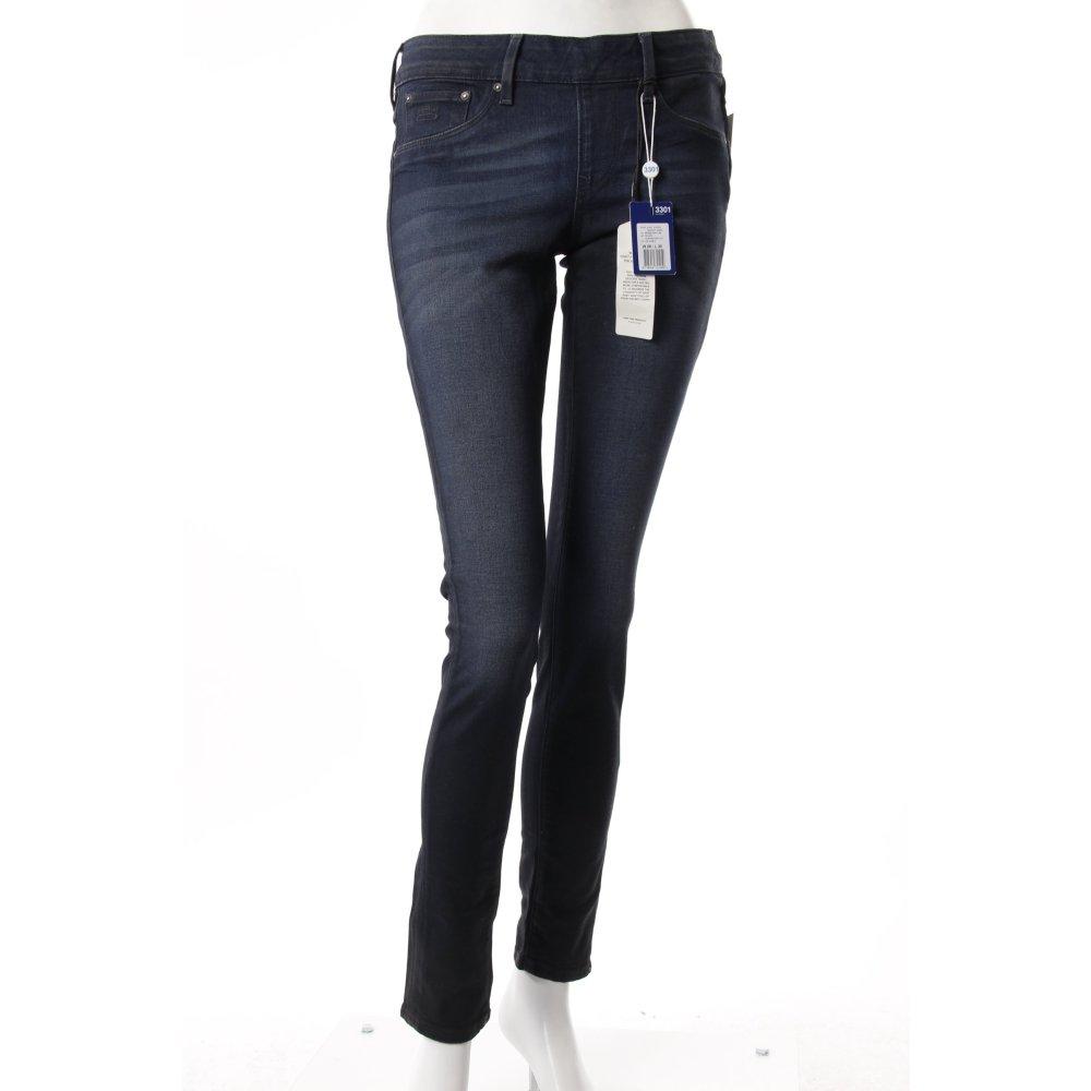 g star skinny jeans dunkelblau damen gr de 38 baumwolle. Black Bedroom Furniture Sets. Home Design Ideas