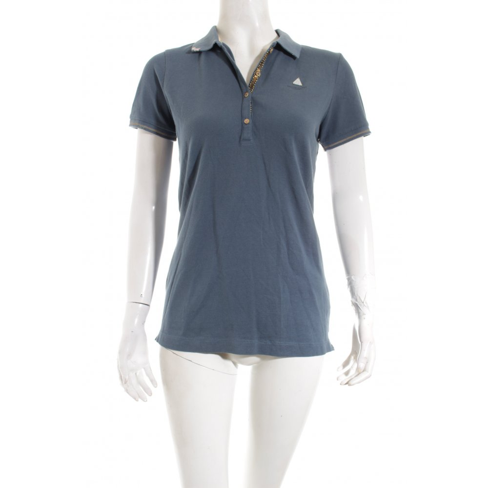 gaastra polo shirt graublau casual look damen gr de 36 polo shirt ebay. Black Bedroom Furniture Sets. Home Design Ideas