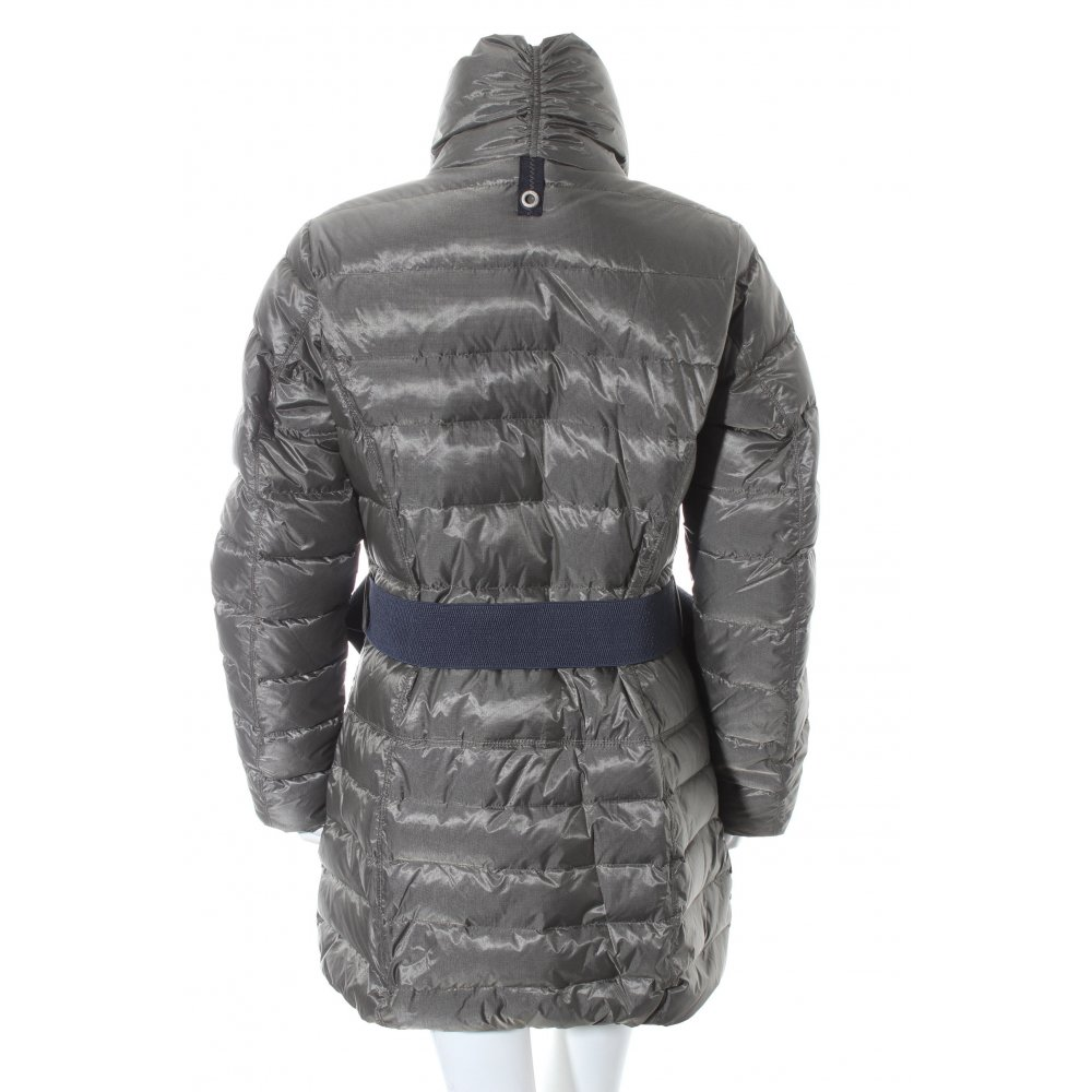 gaastra wintermantel grau schlichter stil damen gr de 38 mantel coat ebay. Black Bedroom Furniture Sets. Home Design Ideas